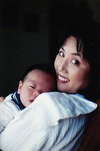 Baby Josh and me