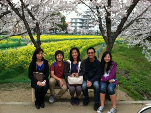 Yukako and my family during our visit in Japan last April
