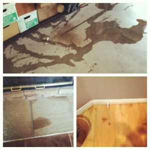 Water in the garage, water on our floors, water everywhere...