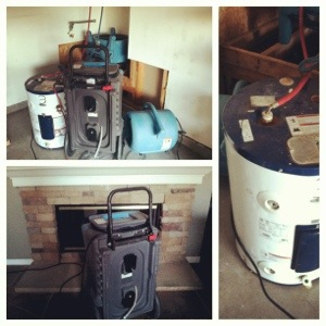Fans, dehumidifiers, and temporary water heater, oh my!