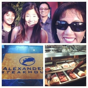 After the week, we had our traditional dinner out at Alexander's Steakhouse in Cupertino, CA.